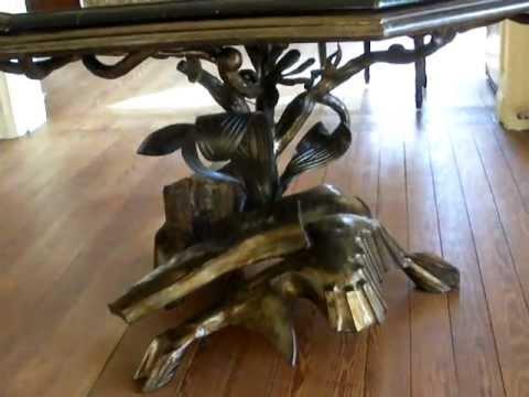 Mesa de forja art stica artistic forging artesan a del hierro youtube - Mesa de forja ...