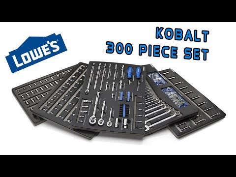 Kobalt 300-Piece Standard (Sae) And Metric Mechanic's Tool Set