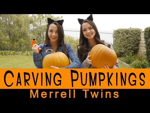 Carving Pumpkins - Merrell Twins