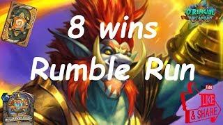 Hearthstone: New Adventure: Ringue do Rastakhan (Rumble Run) - Rikkar Mage - 8 wins
