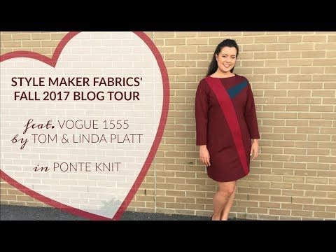Color-blocked, body-con(ish) Vogue 1555  |  Style Maker Fabrics' Fall 2017 Blog Tour