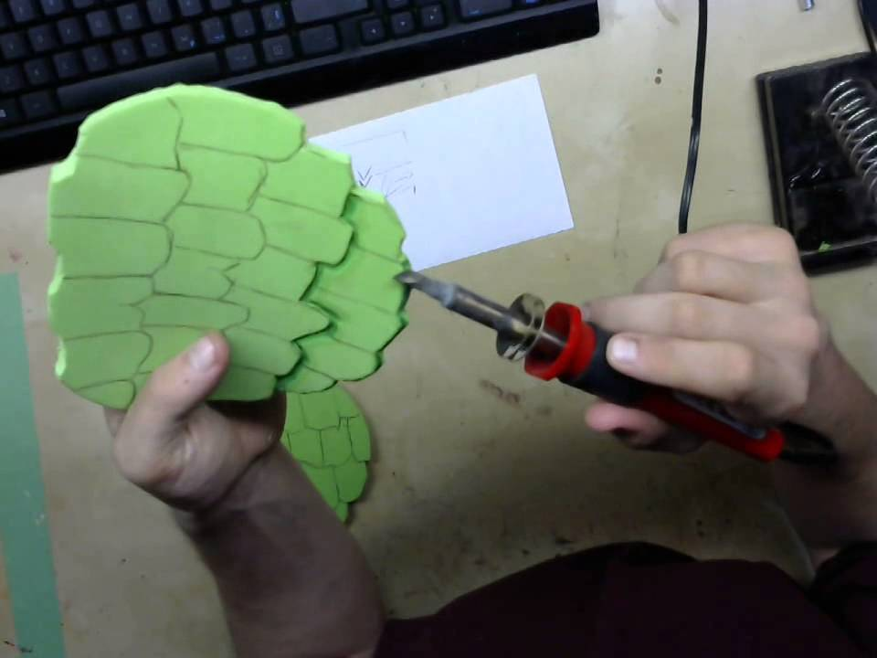 foam carving with sothering iron/wood carving tool