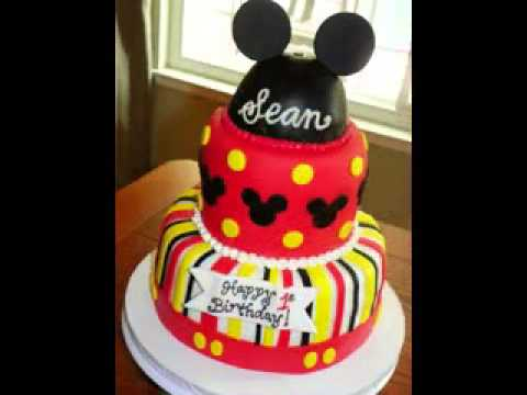 DIY Mickey mouse birthday cake decorations YouTube