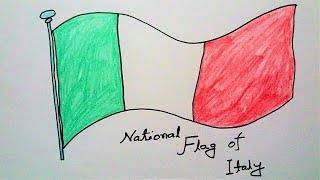 How to Draw National Flag of Italy | Drawing Italian Flag | Flags Drawing Tutorial