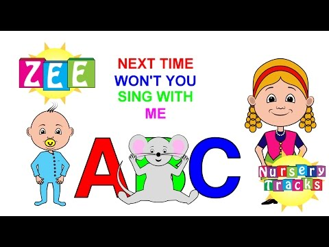 Our ABC Song  Faster, faster  ZEE version  NurseryTracks