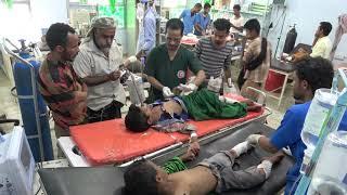 إصابة 6 أطفال بإنفجار لغم أرضي زرعته مليشيات الحوثي بمديرية الوازعية