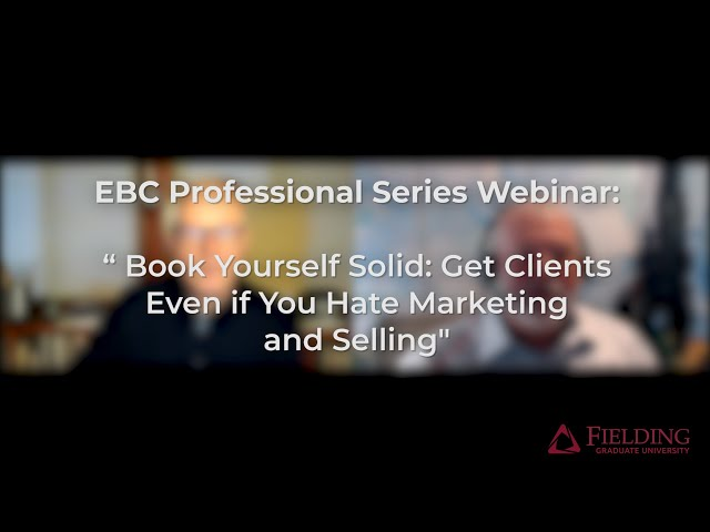 #Coaching Webinar - Book Yourself Solid: Get Clients Even if You Hate Marketing and Selling