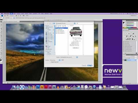 How to put two pictures together in photoshop cs4