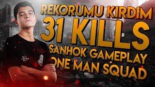 REKORUMU KIRDIM 31 KILLS! | PUBG Mobile Türkçe - SANHOK SOLO VS SQUAD (1 vs 4)