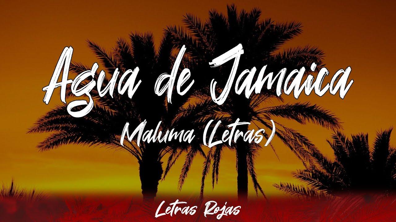 Maluma Agua De Jamaica Lyrics Letra Letras Rojas Youtube