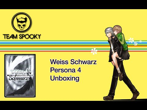 Weiss Schwarz - Persona 4 English Set Unboxing w/ Signed Foi