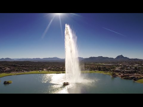 From the Air - Fountain Hills, Arizona - Over the Rainbow 10-18-14