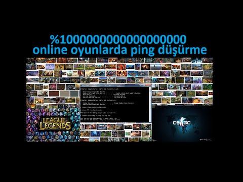 Yüksek Ping Düşürme Yöntemi [%100%ÇÖZÜLDÜ] CS:GO,League Of Legends,Online Oyunlarda geçerli.