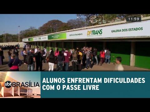 Alunos enfrentam dificuldades com o passe livre   SBT Brasília 01/08/2018