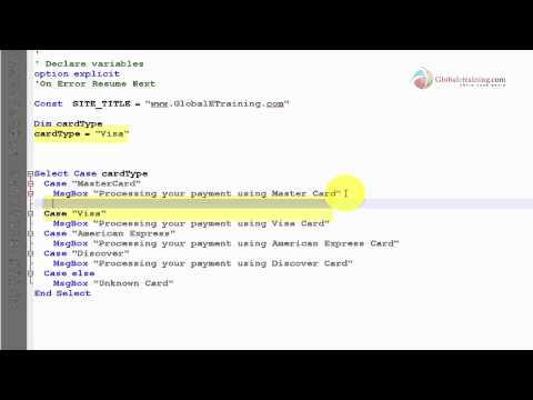 VB Scripting - Conditional Statement - Select Case
