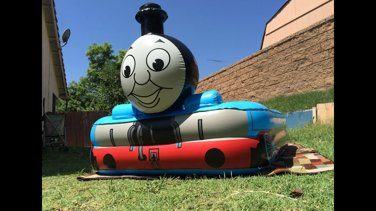 giant thomas the tank engine themed pool with thomas n friends toy trains disney cars egg