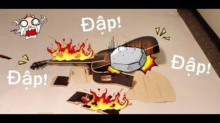 Vlogs - Phá hủy đàn guitar giá 1tr950k ( Destroy the guitar)