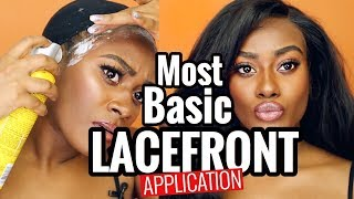 THE EASIEST WAY TO APPLY A LACEFRONT WIG!! Como Me Pongo Peluca Lace Front!!!