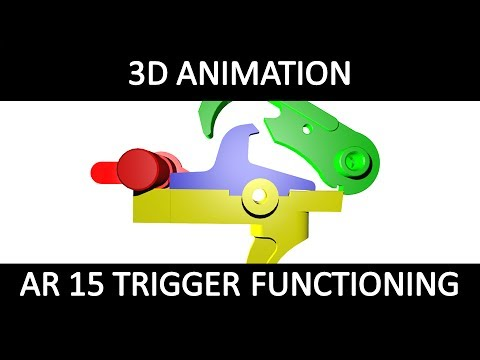 3D animation of AR 15 Trigger functioning