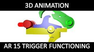 3D-animation von AR-15 Trigger funktionieren