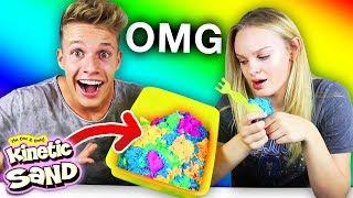 Wir testen MAGISCHEN Sand 🌈 (Kinetic Sand)