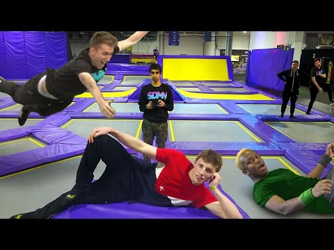 Thumbnail: SIDEMEN TRAMPOLINE CHALLENGES (Injury Warning)