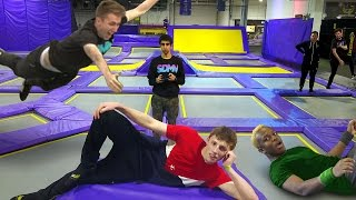 SIDEMEN TRAMPOLINE CHALLENGES (Injury Warning)