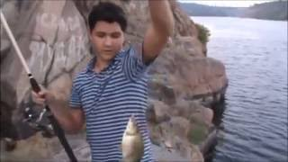 Рыбалка на скалах/Ловля в урочище Вырва/Fishing on Rocks