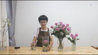 Hướng dẫn cắm hoa cho người mới bắt đầu #5 Cấp cứu cho hoa hồng