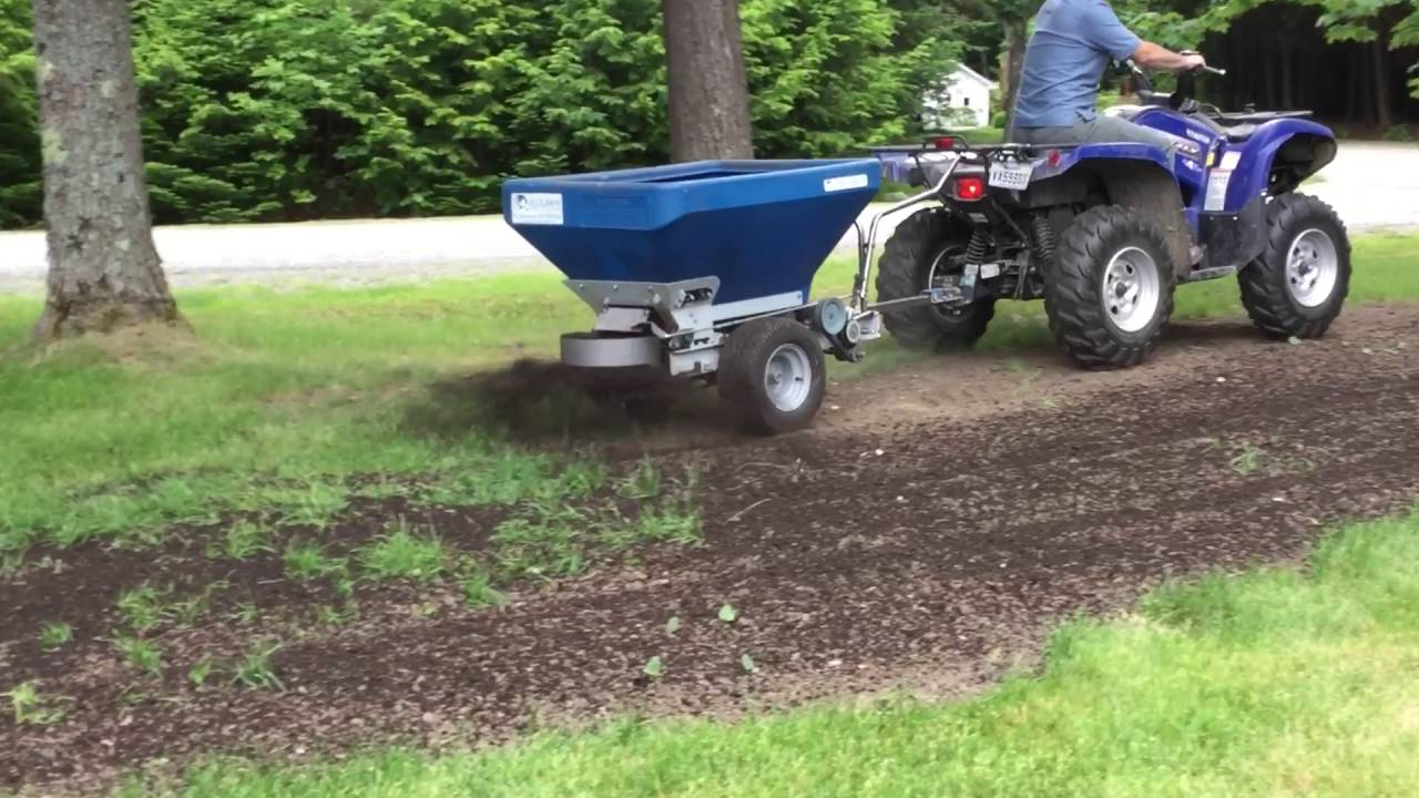 Ecolawn Applicator Eco 50 Tow Behind Compost Spreader