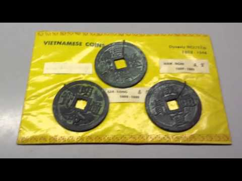 Vietnamese coins from pawn shop