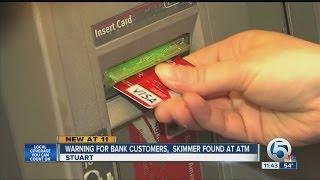 Skimmer found at Stuart bank ATM