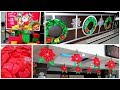 exquisite Christmas decoration ideas, wreath, flower, hall decoration and glittery snowflakes