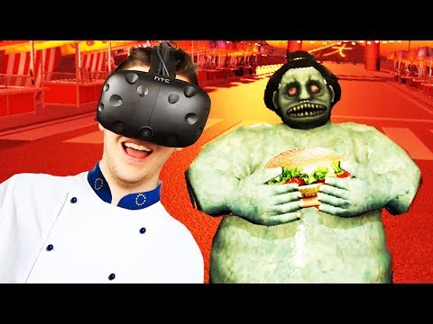 Chef Ctop Cooking Up More Burgers! - Dead Hungry Gameplay - VR HTC Vive