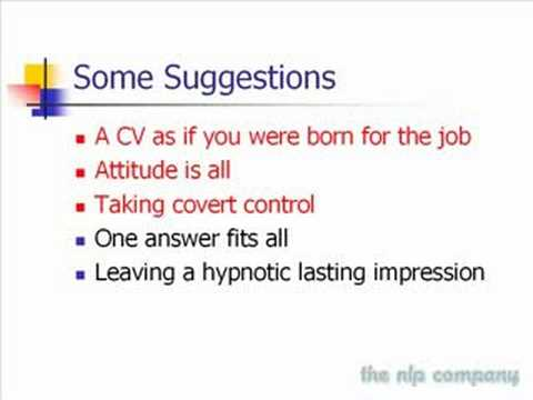 Job Interview Technique Using NLP Persuasion