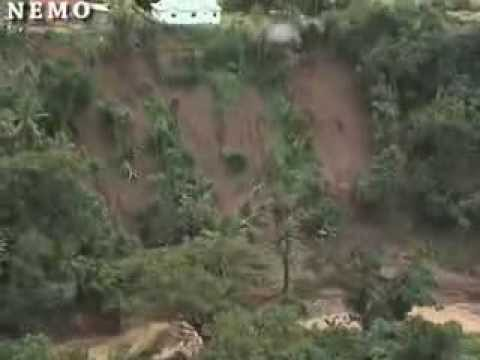 AERIAL VIEW OF THE EFFECTS OF CHRISTMAS EVE TROUGH (SAINT LUCIA)