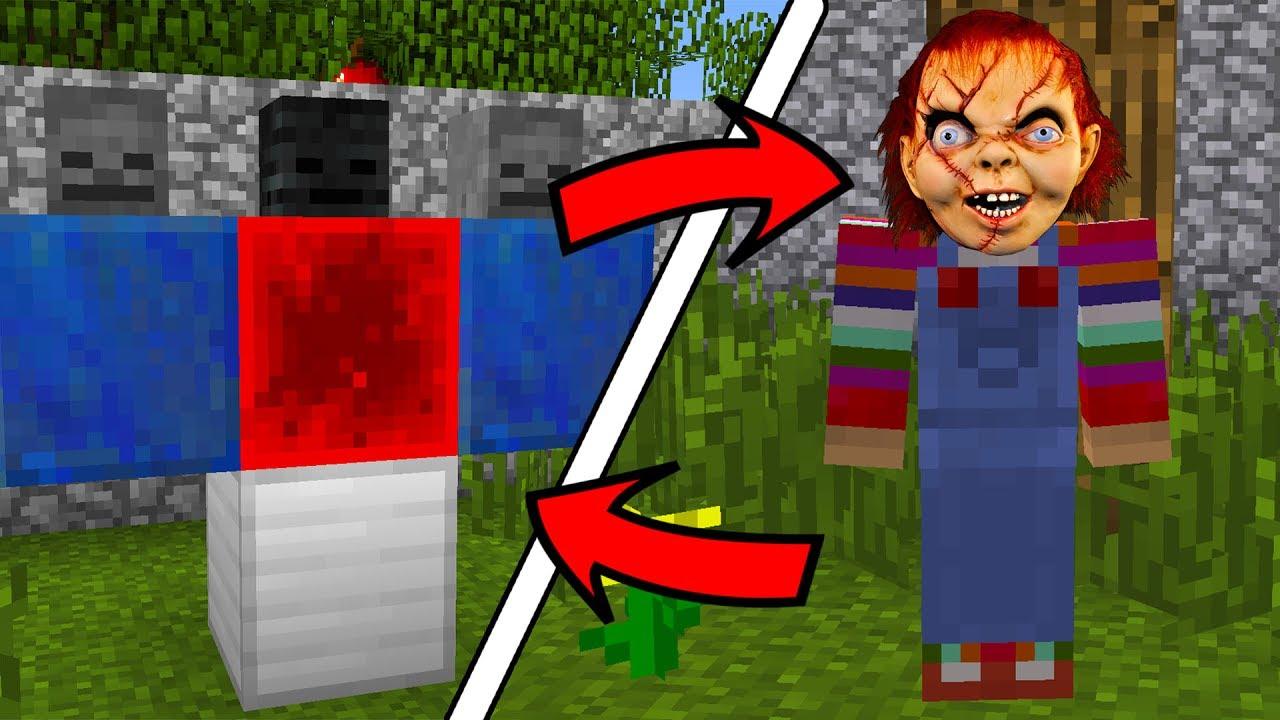 How To Spawn Killer Chucky In Minecraft Chucky Scary Doll Addon YouTube