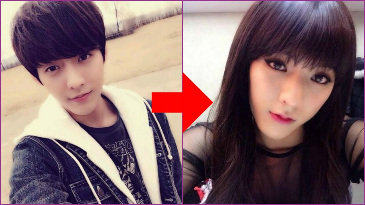 15 Male Kpop Idols Dressed Like Girls Youtube