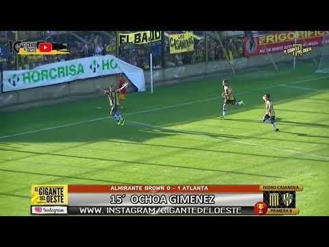 ALMIRANTE BROWN 0 - 1 ATLANTA   El gol   www.giganteoeste.blogspot.com