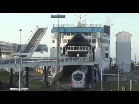 [Vogelfluglinie/Fugleflugtslinjen] Train Ferry along Bird Flight Line