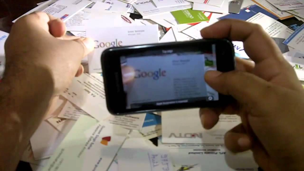 Scan Business Cards with your Mobile Phone - YouTube