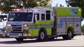 DFW Airport Fire Dept. Engine 53 & Medic 602 Responding