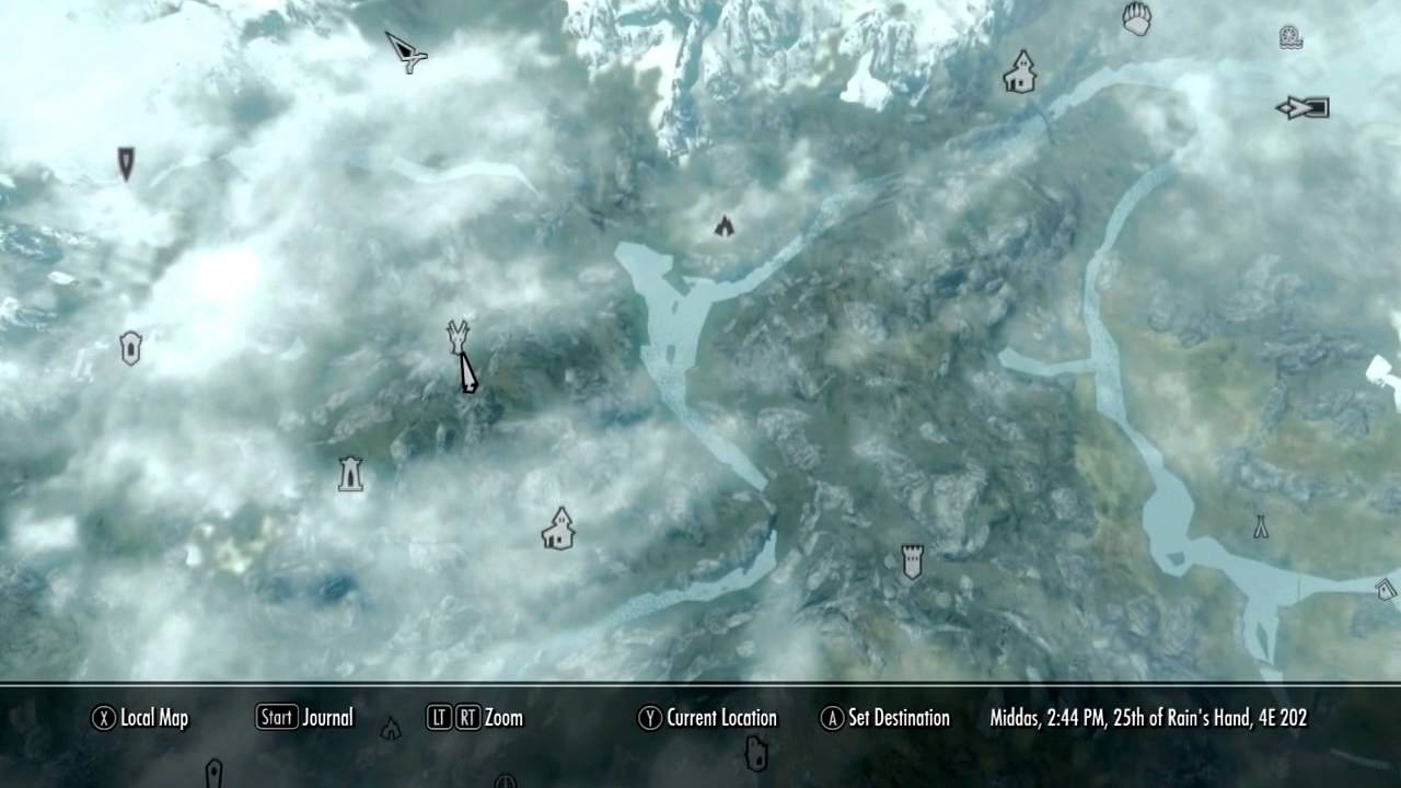 Dragon Shout Locations Map on