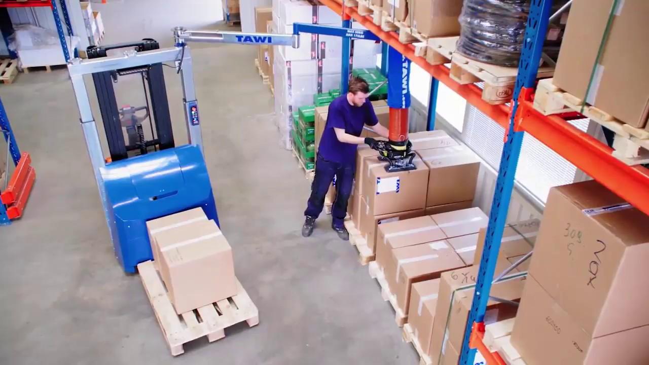 Elevador de cargas por vacío móvil para la logística