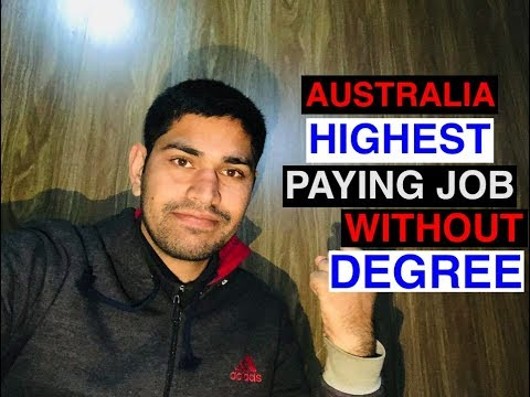 Australia Highest Paying Jobs Without Degree