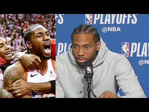 Kawhi Leonard Explains His Crazy Game Winner In Game 7! Sixers vs Raptors Game 7