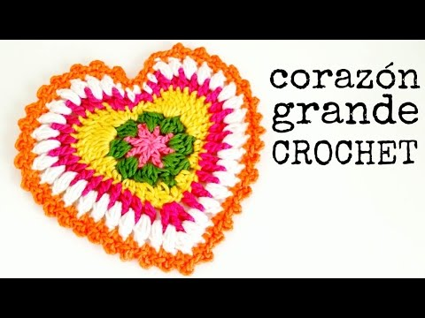 Corazon 3D a Crochet - PASO A PASO FunnyDog.TV