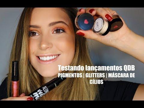TESTANDO LANÇAMENTOS QUEM DISSE BERENICE - PIGMENTO | GLITTER | MÁSCARA DE CÍLIOS