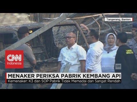Menteri Tenaga Kerja Periksa Pabrik Kembang Api di Tangerang