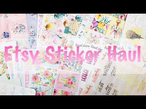 Etsy Sticker Haul